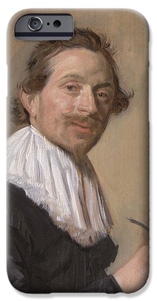 Quill iPhone Cases - Portrait Of Jean De La Chambre At The Age Of 33, 1638 Oil On Panel iPhone Case by Frans Hals