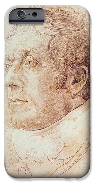 Portrait of JMW Turner iPhone Case by Cornelius Varley