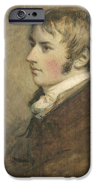 1796 iPhone Cases - Portrait Of John Constable Aged Twenty iPhone Case by Daniel Gardner