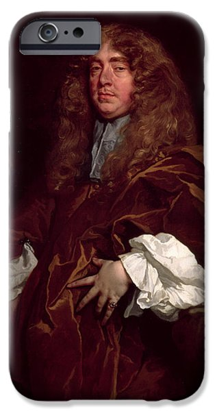 President iPhone Cases - Portrait Of John Maitland, 1st Duke Of Lauderdale 1616-82 C.1665 iPhone Case by Sir Peter Lely