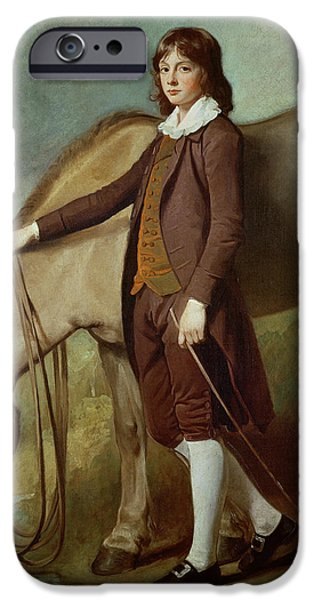 Young Man Photographs iPhone Cases - Portrait Of John Walter Tempest Oil On Canvas iPhone Case by George Romney