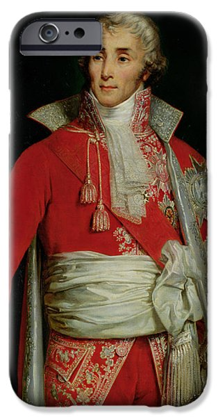 Police iPhone Cases - Portrait of Joseph Fouche Duke of Otranto iPhone Case by Edouard Louis Dubufe