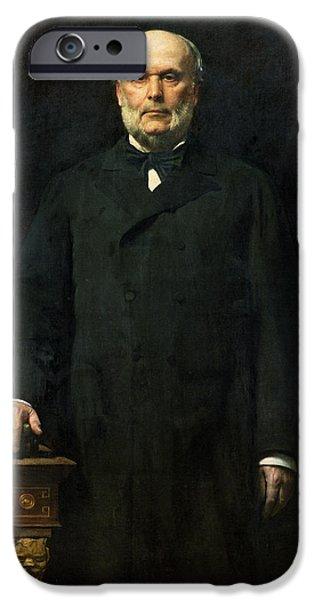 Politician iPhone Cases - Portrait Of Jules Grevy 1807-91 1880 Oil On Canvas iPhone Case by Leon Joseph Florentin Bonnat