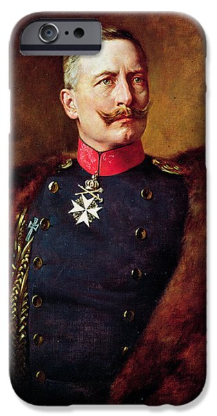 World War One Photographs iPhone Cases - Portrait Of Kaiser Wilhelm Ii 1859-1941 iPhone Case by Bruno Heinrich Strassberger