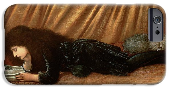 Cushions iPhone Cases - Portrait Of Katie Lewis iPhone Case by Sir Edward Coley Burne-Jones