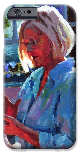 Portrait of Kelly iPhone Case by Douglas Simonson