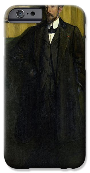 Painter Photographs iPhone Cases - Portrait Of Lucien Simon 1864-1945 1907 Oil On Canvas iPhone Case by Charles Cottet