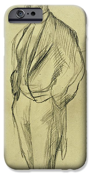 Portrait of Ludovic Halevy iPhone Case by Edgar Degas
