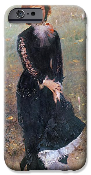 Madame iPhone Cases - Portrait of Madame Edouard Pailleron iPhone Case by John Singer Sargent