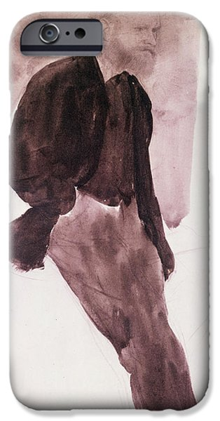 Print Pastels iPhone Cases - Portrait of Manet iPhone Case by Edgar Degas