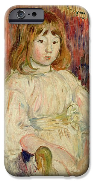 Child iPhone Cases - Portrait Of Marcelle, 1895 Oil On Canvas iPhone Case by Berthe Morisot