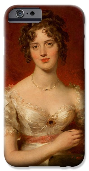 Nineteenth Paintings iPhone Cases - Portrait of Mary Anne Bloxam iPhone Case by Thomas Lawrence