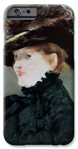 Anne iPhone Cases - Portrait Of Mery Laurent 1849-1900 1882 Pastel On Paper iPhone Case by Edouard Manet