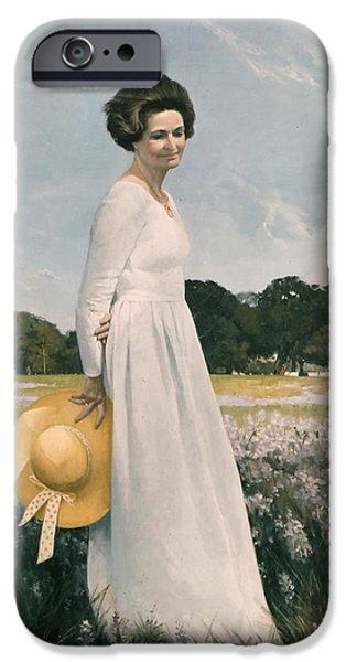 Portrait of Mrs Lyndon B Johnson iPhone Case by Mountain Dreams