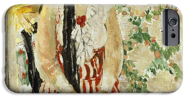 Women Together Paintings iPhone Cases - Portrait of Nel Wouters iPhone Case by Rik Wouters