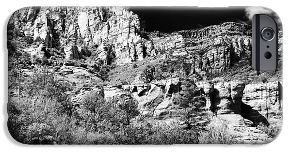 Oak Creek iPhone Cases - Portrait of Oak Creek iPhone Case by John Rizzuto