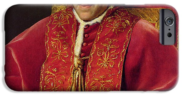 7th iPhone Cases - Portrait of Pope Pius VII iPhone Case by Jacques Louis David