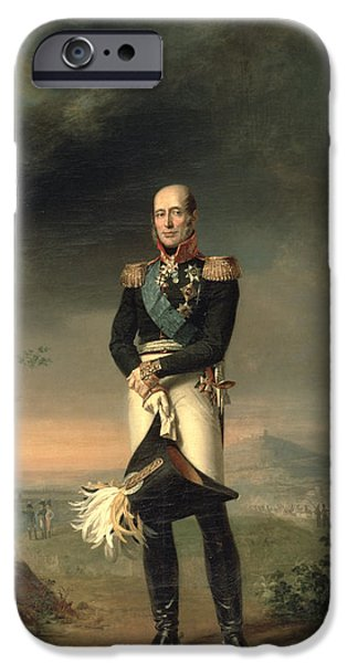 Aristocrat iPhone Cases - Portrait Of Prince Mikhail Barclay De Tolly 1761-1818, 1829 Oil On Canvas iPhone Case by George Dawe