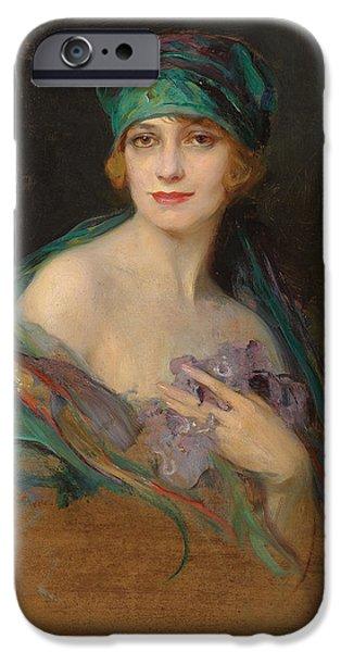 Duchess iPhone Cases - Portrait of Princess Ruspoli iPhone Case by Philip Alexius de Laszlo