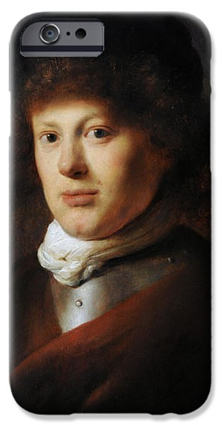 Lieven iPhone Cases - Portrait Of Rembrandt 1606-1669 By Jan Lievens 1607-1674 iPhone Case by Bridgeman Images