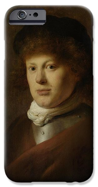 Painter Photographs iPhone Cases - Portrait Of Rembrandt Harmensz Van Rijn, 1628 Oil On Panel iPhone Case by Jan the Elder Lievens