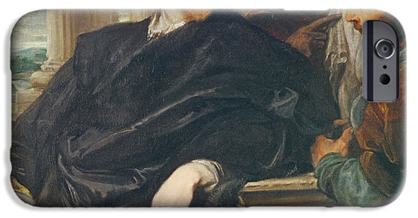 Painter Photographs iPhone Cases - Portrait Of Rubens Oil On Canvas iPhone Case by Sir Anthony van Dyck