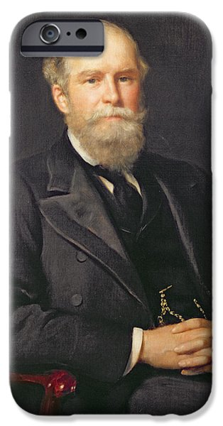 Reform iPhone Cases - Portrait Of Sir John Lubbock 1834-1913, 1st Baron Avebury Oil On Canvas iPhone Case by John Collier