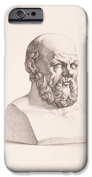Portrait of Socrates iPhone Case by CC Perkins
