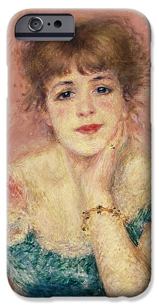 Impressionist Photographs iPhone Cases - Portrait Of The Actress Jeanne Samary, 1877 Study iPhone Case by Pierre Auguste Renoir