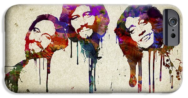 Bee iPhone Cases - Portrait of the Bee Gees iPhone Case by Aged Pixel