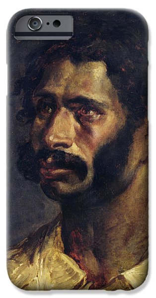 Raft iPhone Cases - Portrait Of The Carpenter Of The Medusa, C.1812 Oil On Canvas iPhone Case by Theodore Gericault