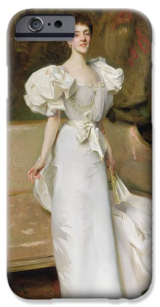 Countess iPhone Cases - Portrait of the Countess of Clary Aldringen iPhone Case by John Singer Sargent