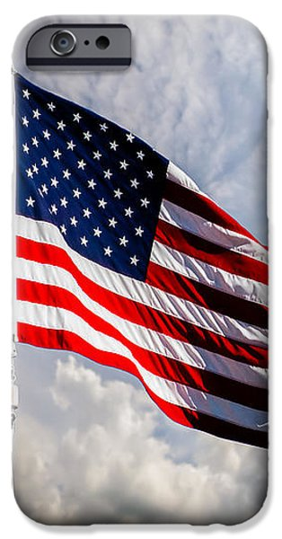 Portrait of The United States of America Flag iPhone Case by Bob Orsillo