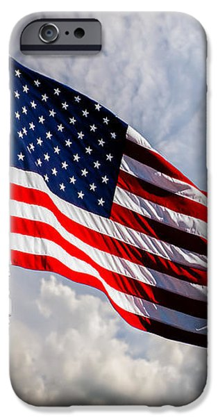 White House iPhone Cases - Portrait of The United States of America Flag iPhone Case by Bob Orsillo