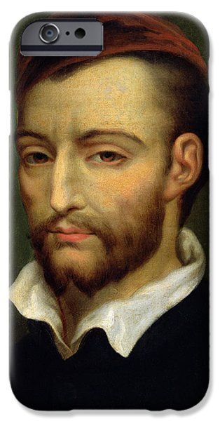 Painter Photographs iPhone Cases - Portrait Of Theodore Gericault 1791-1824 Oil On Canvas iPhone Case by Louis Alexis Jamar