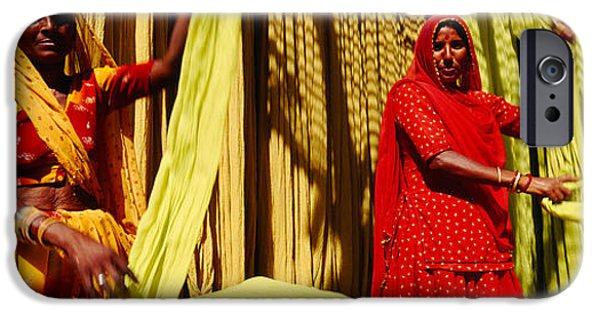 Adults Only iPhone Cases - Portrait Of Two Mature Women Working iPhone Case by Panoramic Images