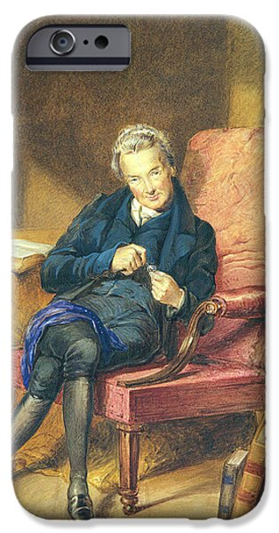 Slavery Abolition iPhone Cases - Portrait Of William Wilberforce 1759-1833 1833 Wc On Paper iPhone Case by George Richmond