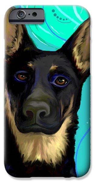 Puppy Digital iPhone Cases - Portrait of Ysabel von Sonnenberg iPhone Case by Karon Melillo DeVega