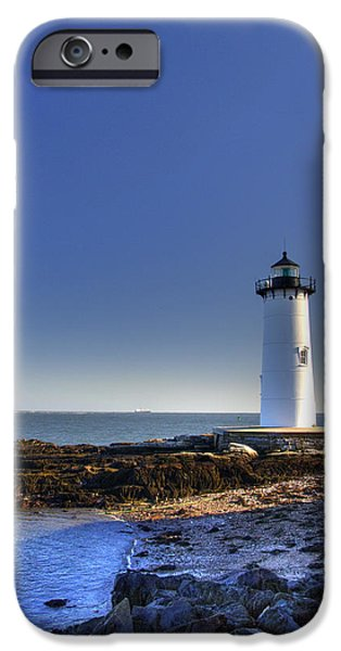 Constitution iPhone Cases - Portsmouth and the Whaleback iPhone Case by Joann Vitali