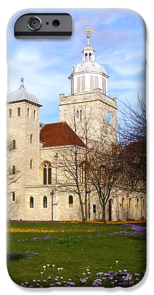 Portsmouth Cathedral at Springtime iPhone Case by Terri  Waters