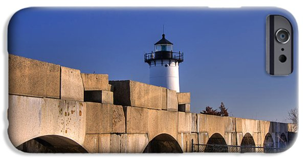 Constitution iPhone Cases - Portsmouth Harbor Light 2 iPhone Case by Joann Vitali