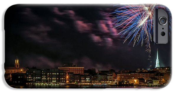 4th July Photographs iPhone Cases - Portsmouth NH Fireworks 2013 iPhone Case by Scott Thorp