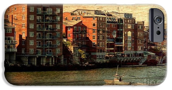 Balcony iPhone Cases - Portsmouth River View iPhone Case by Marcia Lee Jones