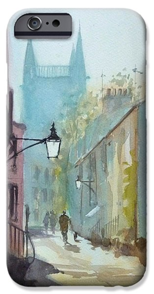 Cambridge Paintings iPhone Cases - Portugal Place iPhone Case by Henry Jones
