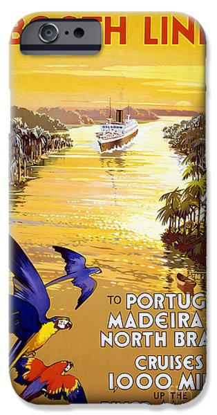 Vintage Travel iPhone Cases - Portugal Vintage Travel Poster iPhone Case by Jon Neidert