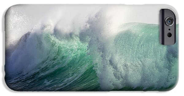 Power iPhone Cases - Portuguese Sea Surf iPhone Case by Heiko Koehrer-Wagner