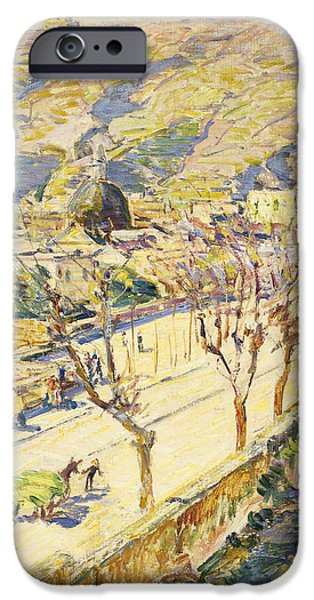 Thoroughfare iPhone Cases - Posillipo iPhone Case by Childe Hassam