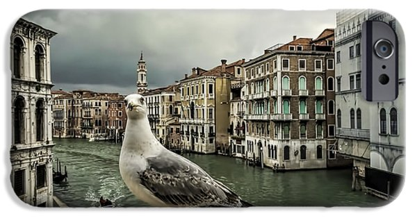 Buildings iPhone Cases - Posing for Tourists iPhone Case by Maria Coulson
