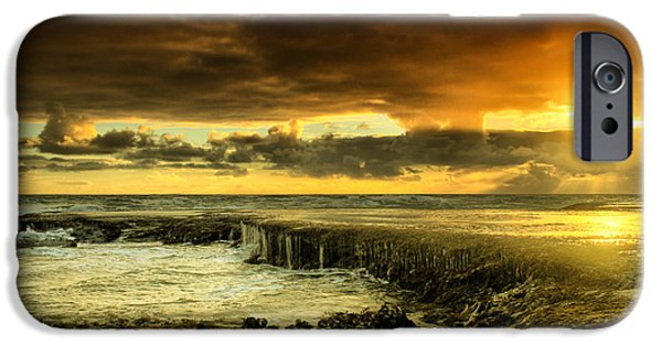 Beach Landscape iPhone Cases - Positive Reinforcement iPhone Case by Andrew Paranavitana