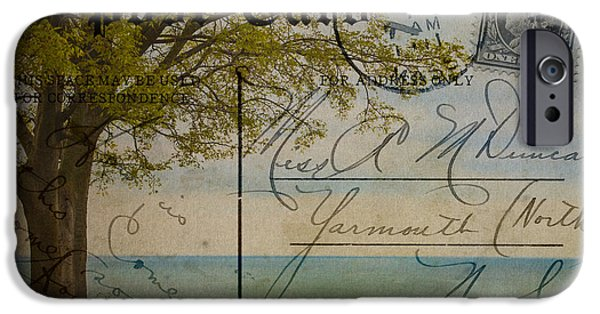 Arkansas iPhone Cases - Post Card from Balchik to US iPhone Case by Cristina-Velina Ion